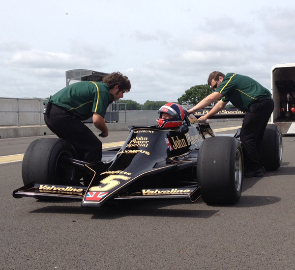 Lotus man drives Lotus 79