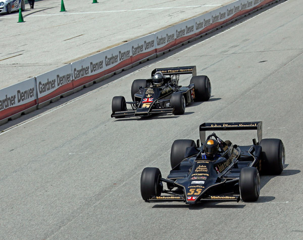 Classic Team Lotus one-two at the Hawk