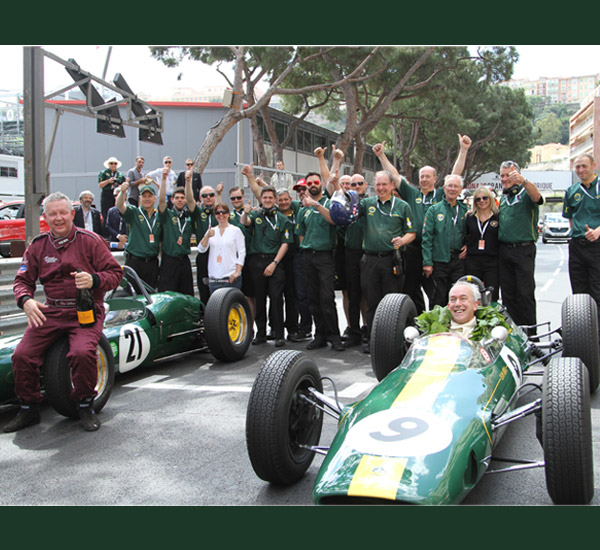 Classic wins for Team Lotus at Monaco