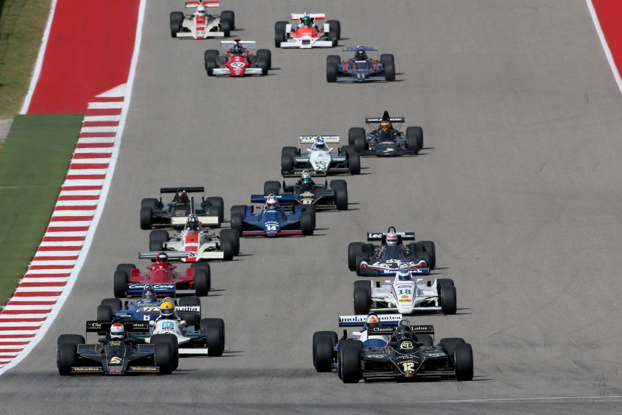 Classic Team Lotus drivers enjoy winning in Austin and Estoril