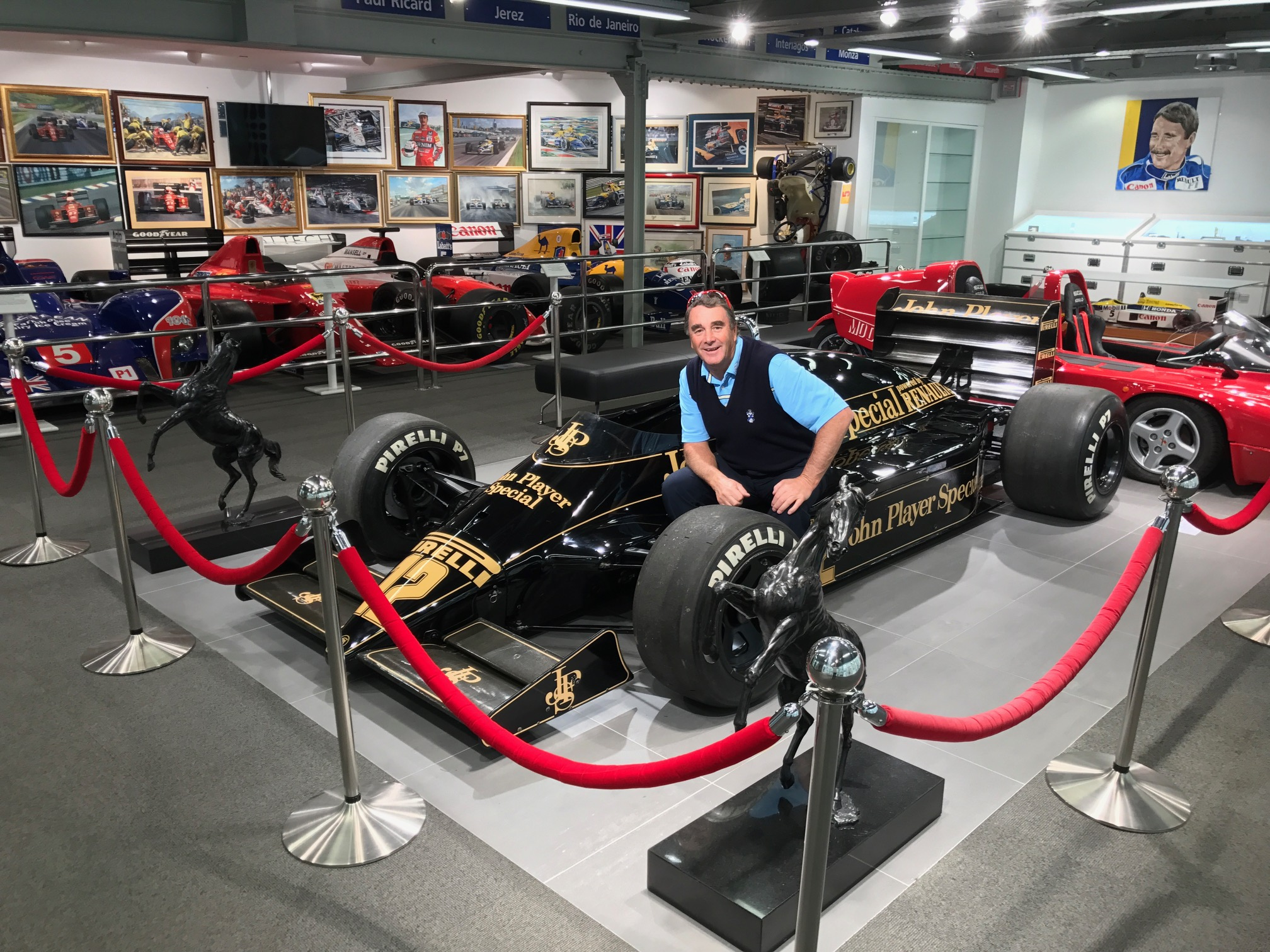 Lotus in pride of place at Mansell Museum